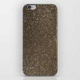 Bronze Gold Burnished Glitter iPhone Skin