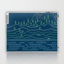 Outdoor solitude - line art Laptop & iPad Skin