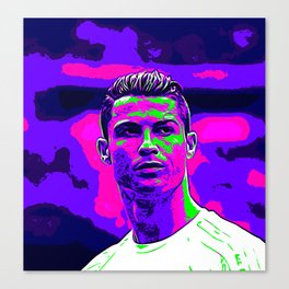 Ronaldo - Neon Canvas Print