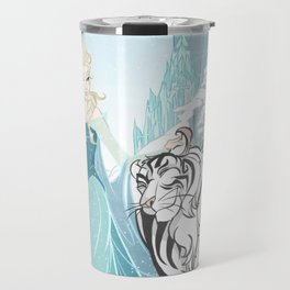 Frozen White Tiger Travel Mug
