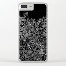 Jakarta Black Map Clear iPhone Case