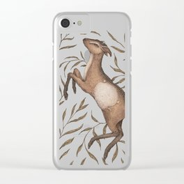 The Goat and Willow Clear iPhone Case