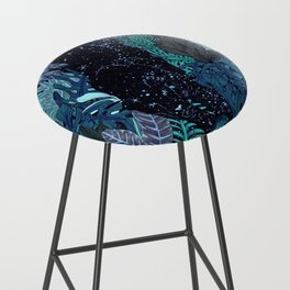 The Jungle at Night Colour Version Bar Stool