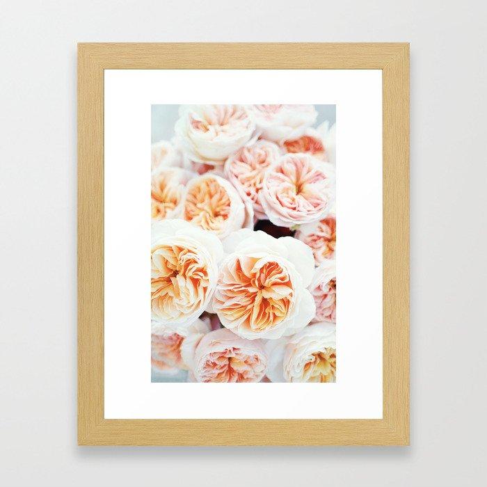Garden Roses Framed Art Print