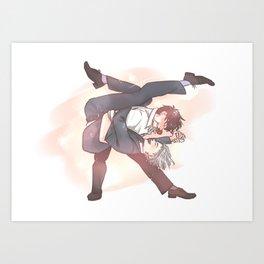 Drunk dancing Art Print