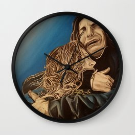 Severus and Lily, oil painting Wall Clock