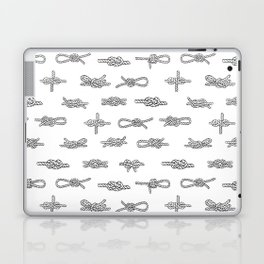 knots pattern sailing nautical knot tying illustration coastal decor Laptop & iPad Skin