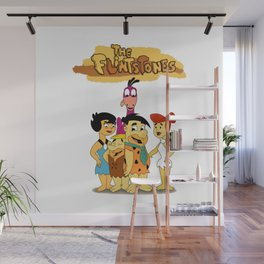 Meet The Stone Age Family Wall Mural