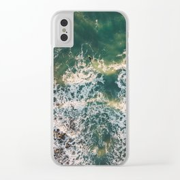 Lonely surfer, Italy, 2018 Clear iPhone Case