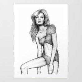 Woman #2 Art Print
