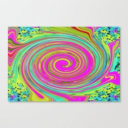 Groovy Abstract Pink Swirl Art 094 Canvas Print