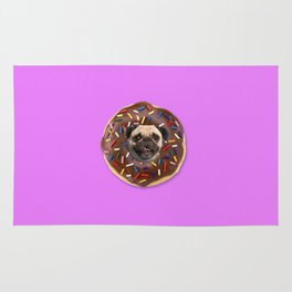 Pug Chocolate Donut Rug