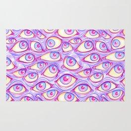 Wall of Eyes in Purple Rug