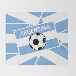 Argentina Football Throw Blanket