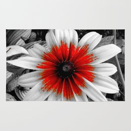 Flower | Flowers | Red Stroke Gaillardia | Red and White Flower | Nadia Bonello Rug