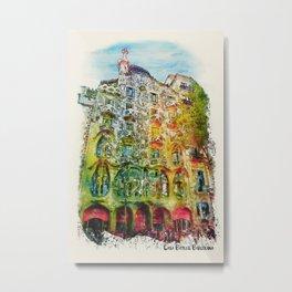 Casa Batllo Barcelona Metal Print