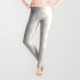 Small Checkered - White and Linen Leggings