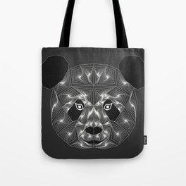 Panda bear Black and white Zentangle Tote Bag