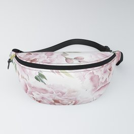 Pretty Pink Roses Floral Garden Fanny Pack