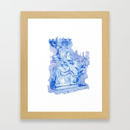 Laocoon monochrome Framed Art Print