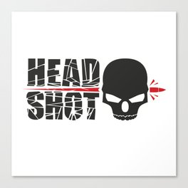 Headshot skull Canvas Print