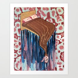 Becoming One With Your Bed I Art Print