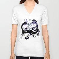 ursula V-neck T-shirts featuring Ursula by ArielPerrenot