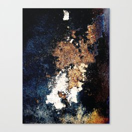 Alien Continents ruined wall texture grunge Canvas Print