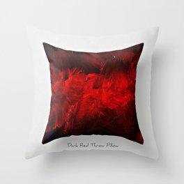 Dark Red Throw Pillow Art Print 3.0 #postmodernism #society6 #art Throw Pillow