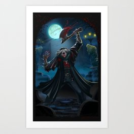 Undone by the Blood. Art Print