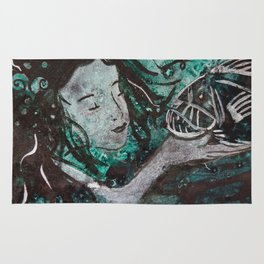 And I Shall Call Him 'Spot'  ( Mermaid and fangtooth ) Rug