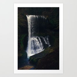 Middle North Falls Art Print