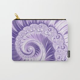 Ultra Violet Luxe Spiral Pattern | Trendy Color of the Year 2018 Carry-All Pouch
