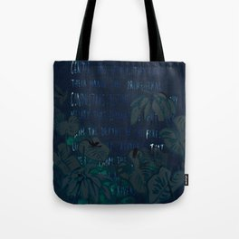 """""""Conquest of the Useless"""" by Werner Herzog Print (v. 5) Tote Bag"""