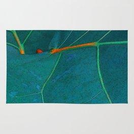 Two Sea Grape Leaves Rug