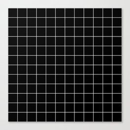 Grid Simple Line Black Minimalistic Canvas Print