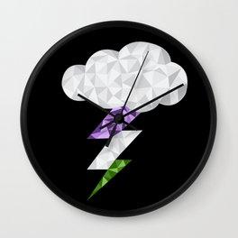 Gender Queer Storm Cloud Wall Clock