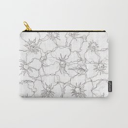 Floral Abstract Sketch Carry-All Pouch