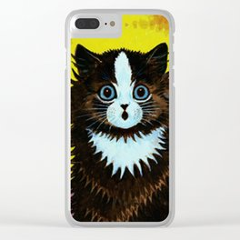 """Louis Wain's Cats """"Psychedelic Rainbow Cat"""" Clear iPhone Case"""