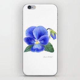 Purple Pansy by Teresa Thompson iPhone Skin