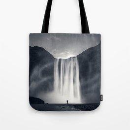 Stormy Skogafoss Tote Bag