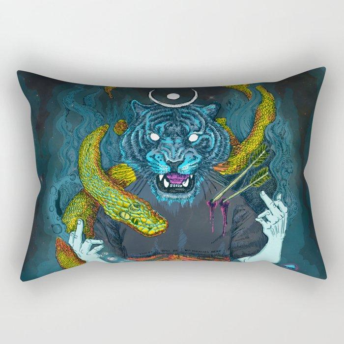 no miracles (full colour) Rectangular Pillow