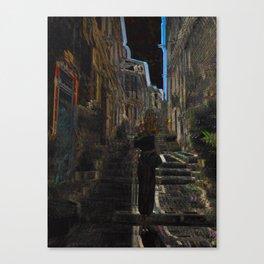 femme dans une ruelle II Canvas Print