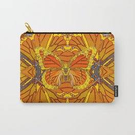 ORIGINAL ABSTRACT ART OF YELLOW-GOLD MONARCH BUTTERFLIES PUZZLE Carry-All Pouch