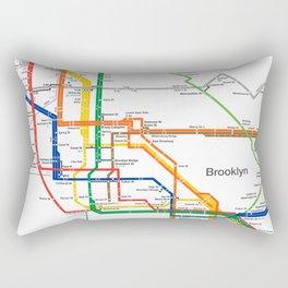 New York City subway map Rectangular Pillow