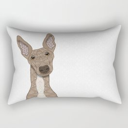 Cute Fawn & White Greyhound Rectangular Pillow