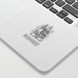 Budapest Hungary Black and White Sticker