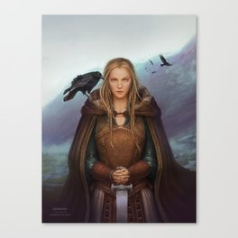 Das Haus des Raben book cover - Front Canvas Print