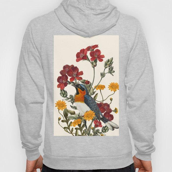 Little Bird and Flowers Hoody