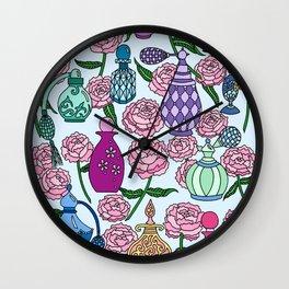 Perfume and Peonies Wall Clock